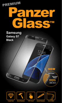 PanzerGlass til Samsung Galaxy S7, Full Fit - sort