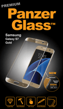 Panzer Glass til Samsung Galaxy S7, Full Fit - gold