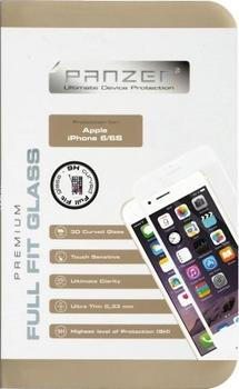 Panzer Tempered Glass til Apple iPhone 6/6S, Full fit - hvid