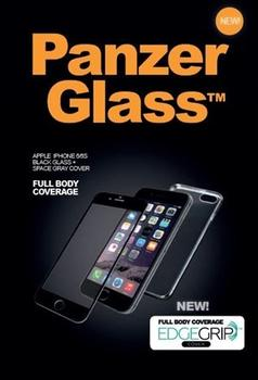 PanzerGlass Premium til iPhone 6, 6S, Edgegrip, sort