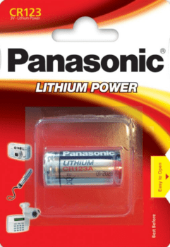 Panasonic CR123A lithium batteri