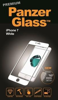 PanzerGlass til iPhone 7, Full Fit, hvid