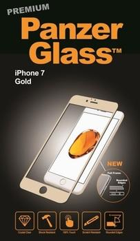 PanzerGlass til iPhone 7, Full Fit, guld