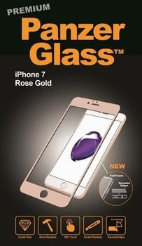 PanzerGlass til iPhone 7, Full Fit, rose gold