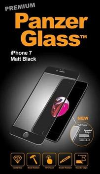 PanzerGlass til iPhone 7, Full Fit, Matt black
