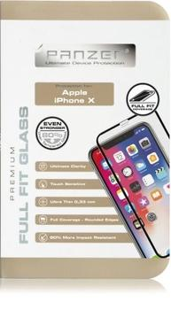 Panzer silicate glas til Apple iPhone X, Full fit - sort