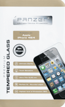 Panzer Tempered Glass til Apple iPhone 4/4S