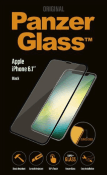 PanzerGlass til iPhone XR, Full Fit, sort