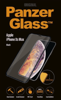 PanzerGlass til iPhone XS Max, Full Fit, sort