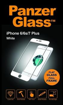 PanzerGlass til iPhone 8 Plus, Full Fit, hvid
