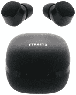 STREETZ TWS-0001 In-Ear True Wireless øretelefoner, m/case, sort