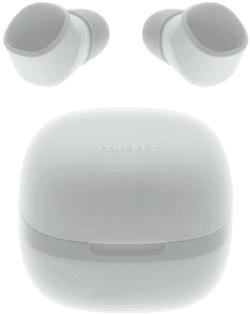 STREETZ TWS-0002 In-Ear True Wireless øretelefoner, m/case, hvid