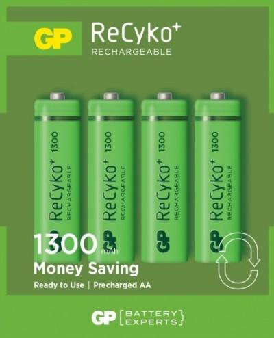 GP ReCyko genopladelige AA batterier