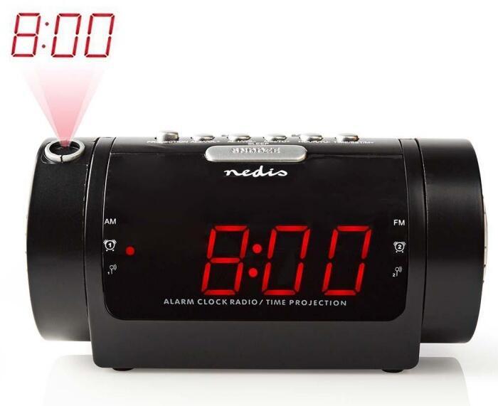 a2d09fc7fb4 Digital clockradio med vækkeur og projektion. Digital clockradio med vækkeur  og projektion