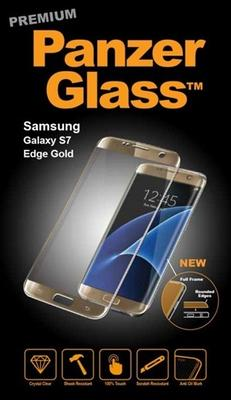 Panzer Glass til Samsung Galaxy S7 Edge, Full Fit - gold