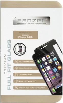 Panzer Tempered Glass til Apple iPhone 6/6S, Full fit - sort