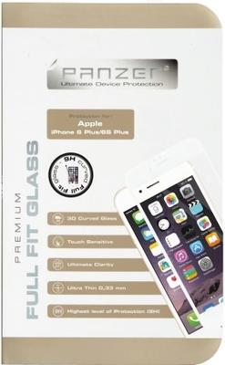 Panzer Tempered Glass til Apple iPhone 6/6S Plus, Full fit - hvid