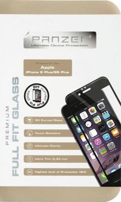 Panzer Tempered Glass til Apple iPhone 6/6S Plus, Full fit - sort