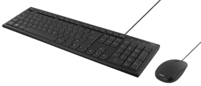DELTACO Tastatur kit med mus, PAN-nordisk layout, USB, sort